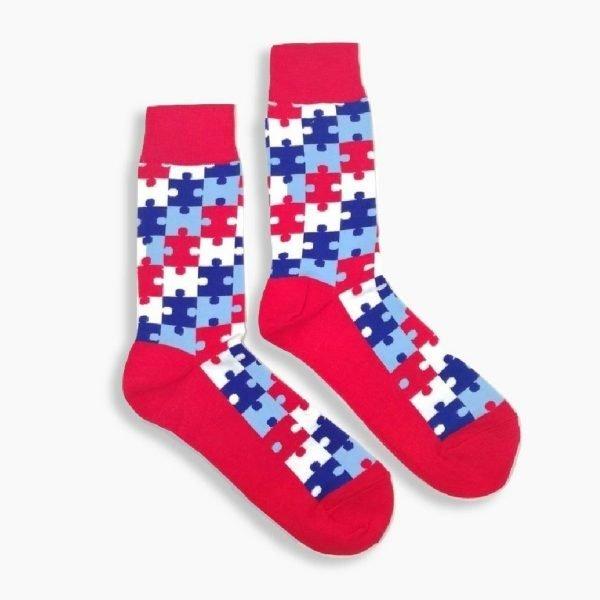 Autism Awareness Red Socks