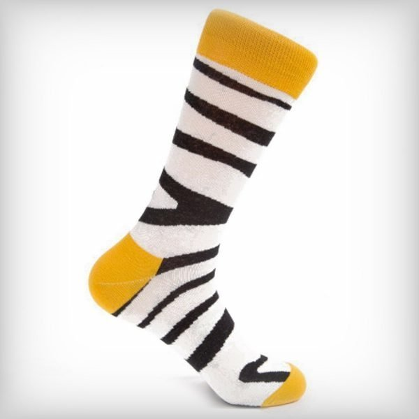 Zebra-Socks-Yellow
