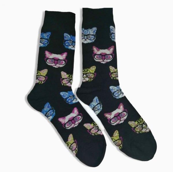 Cat Glasses Socks
