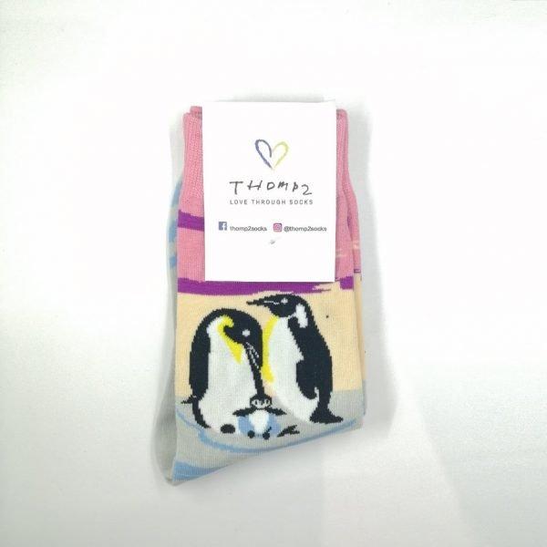 penguin family socks