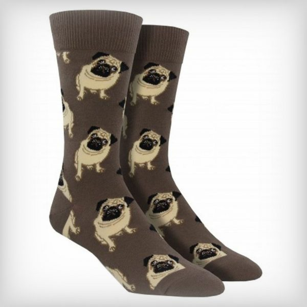 Brown Pug Socks