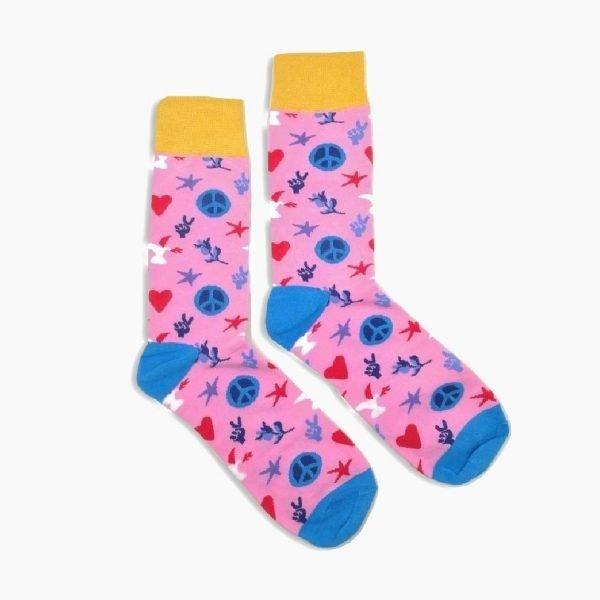 Peace Pink Socks