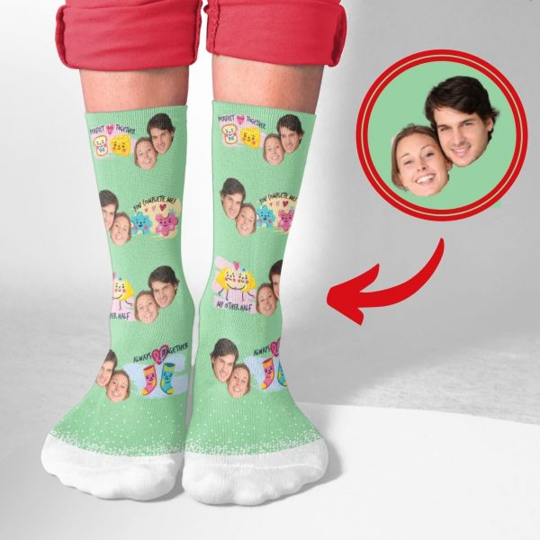 Couples Custom Printed Socks