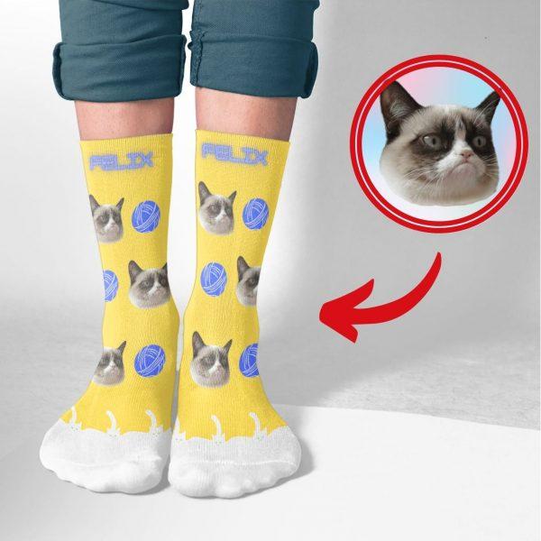 Cat custom Printed Socks