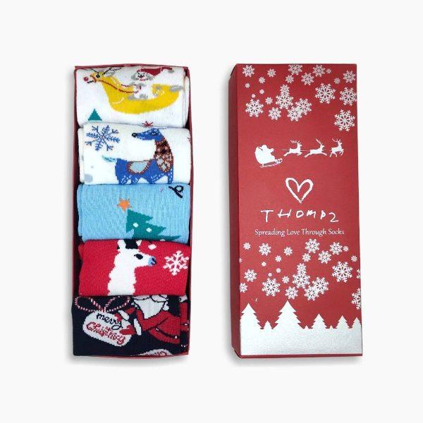 Womens Christmas Socks Box