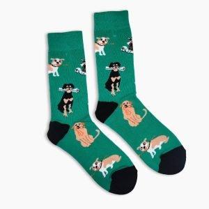 Dog Newspaper Socks