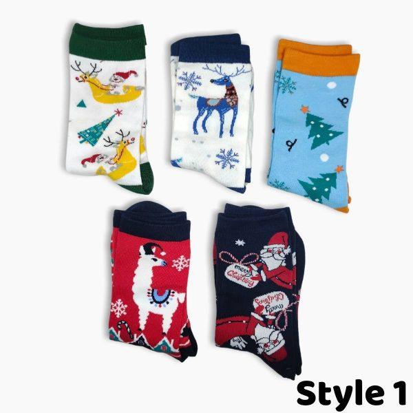 Womens Christmas Socks Style 1