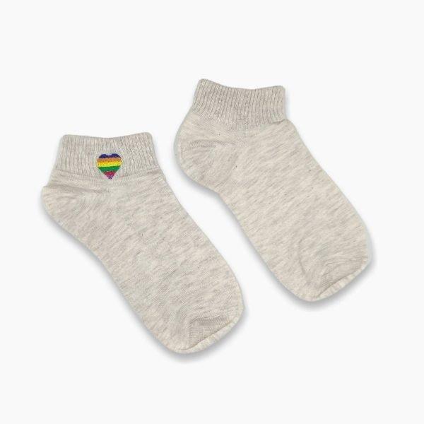 Rainbow heart socks