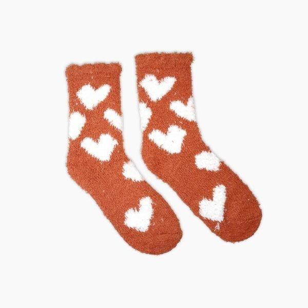 Heart Fluffy Socks