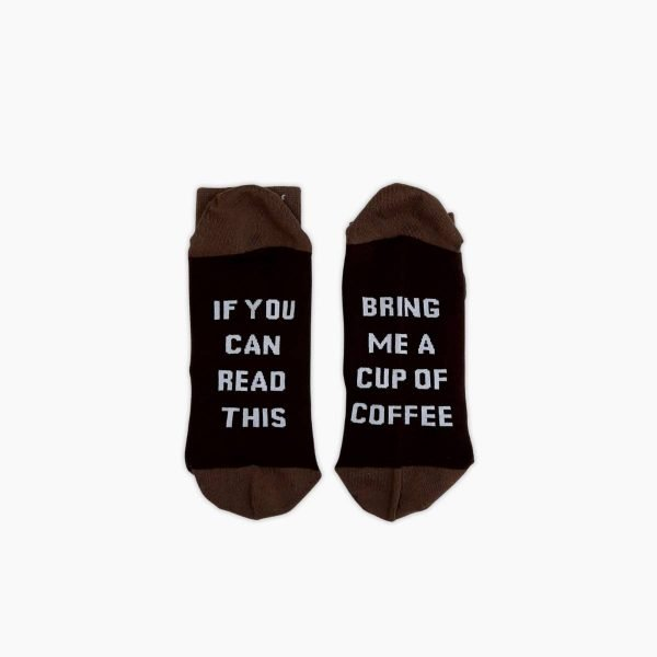Dark bring me coffee socks