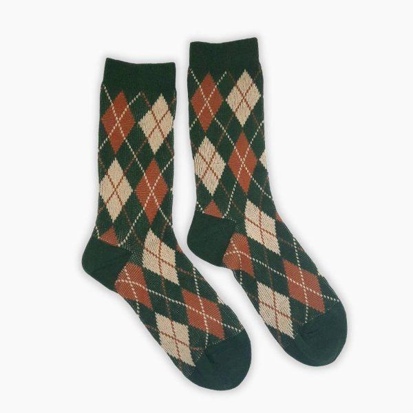 Green Pattern Socks