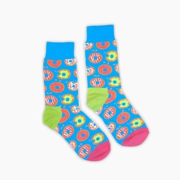 Light Blue Donut Socks
