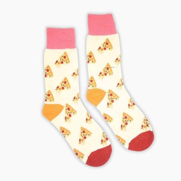 Pink Pizza Socks