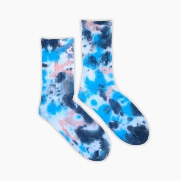Blue Tie Dye Socks