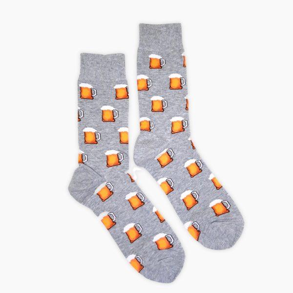 Grey Beer Socks