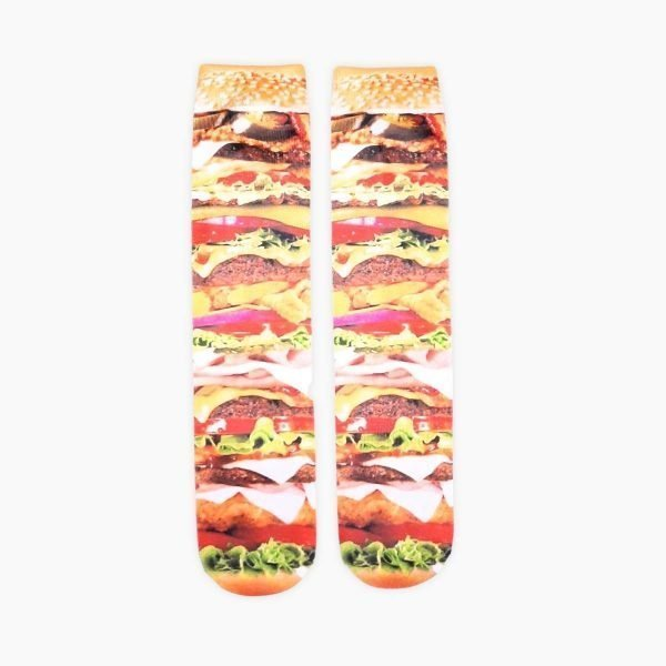 Stacked Burger Socks