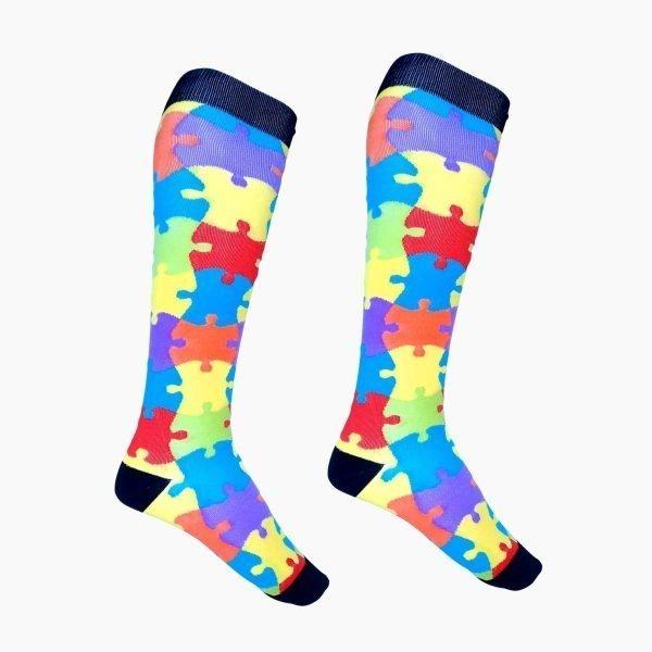 Autism Awareness Compression Socks
