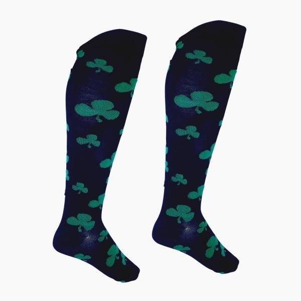 Black Shamrock Compression Socks