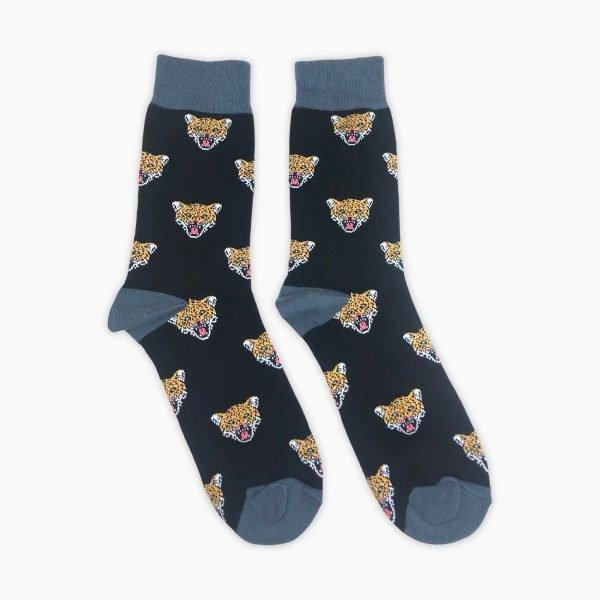 Leopard Growling Socks