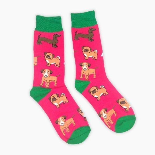 Pink Dog Socks