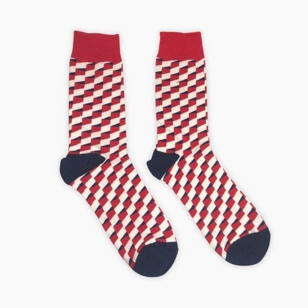 Red Check Pattern Socks