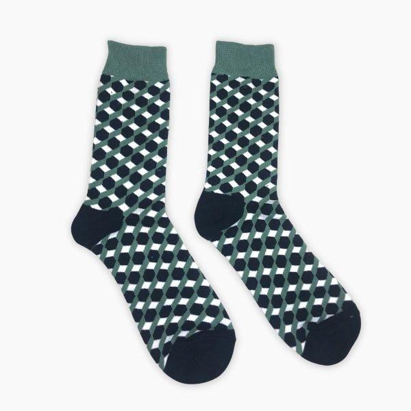 Cube Pattern Socks
