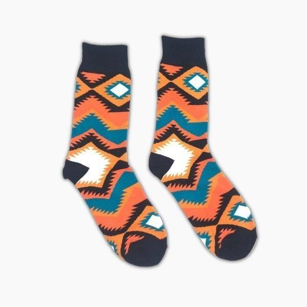 African Pattern Socks